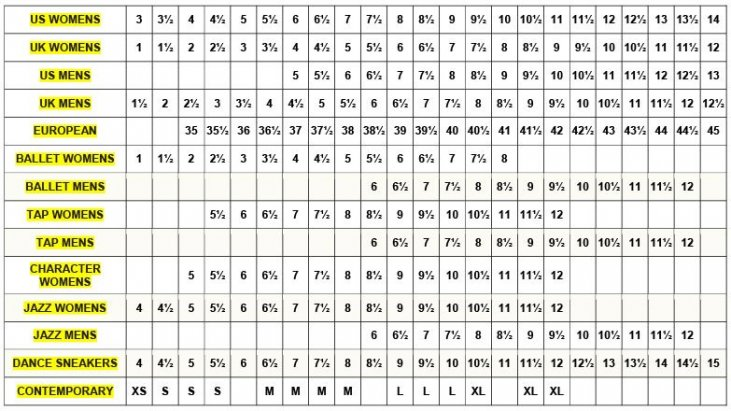 the best attitude 2e2a1 33eed Misure internazionali delle calzature - BALLIAMO STORE